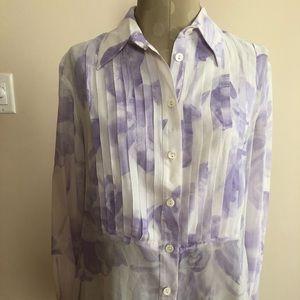Auth Fendi blouse top size 46